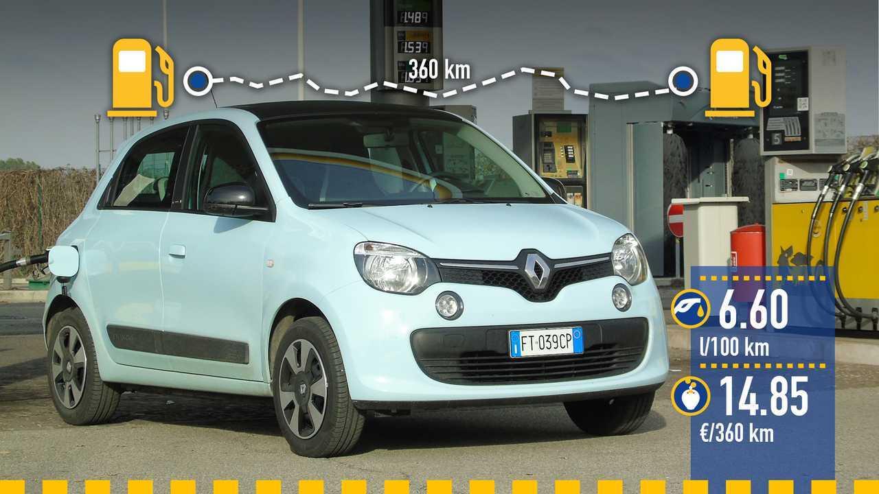 Renault Twingo GPL, la prova consumi