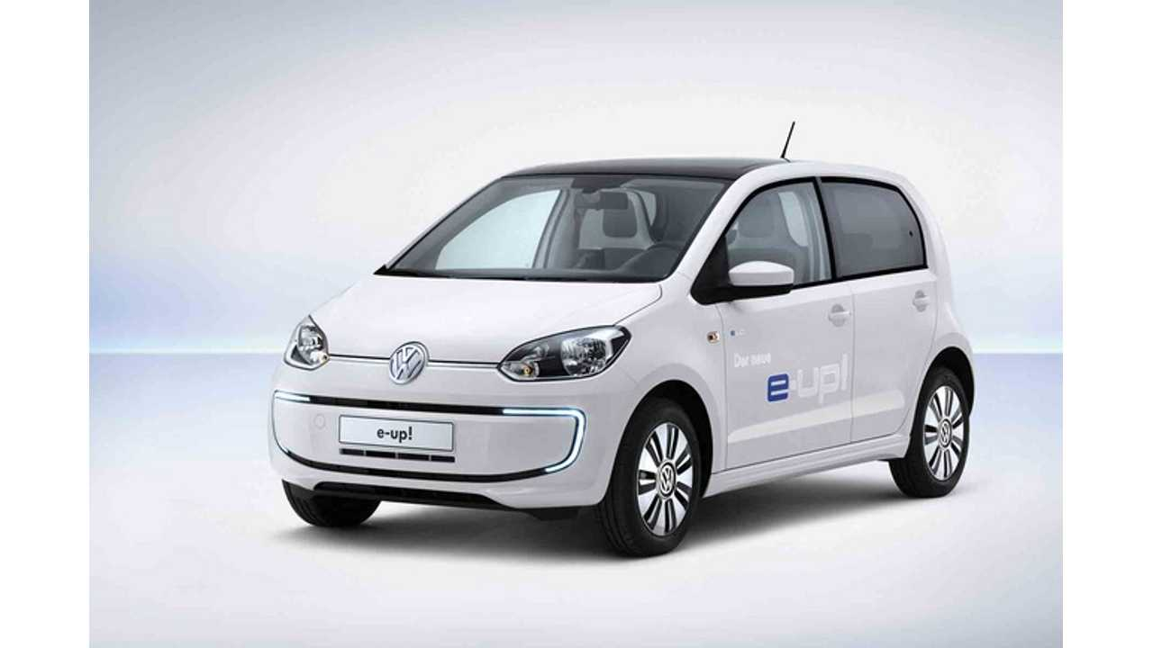 Volkswagen e-up! Priced From €26,900 ($34,500 USD) ... et le ouch