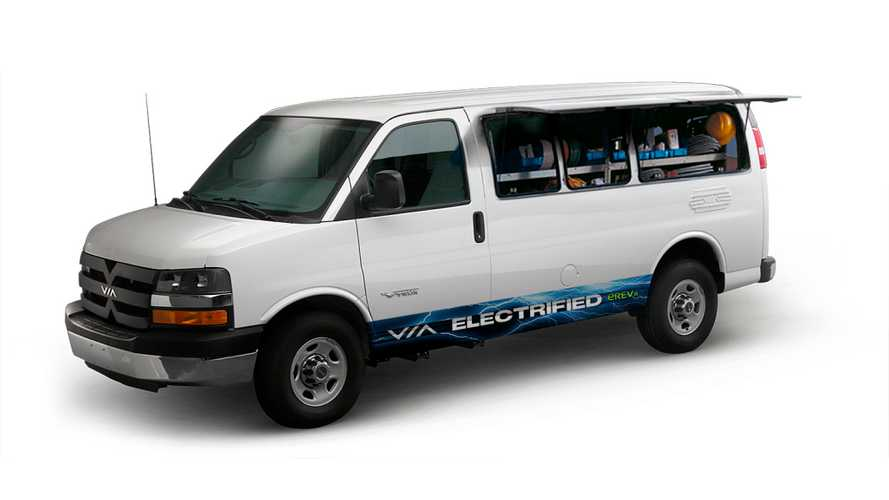 VIA Debuts 35 Mile Extended Range Work Van With Remote Side Doors