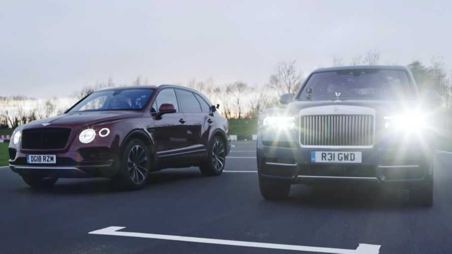 Rolls-Royce Cullinan Drag Races Bentley Bentayga