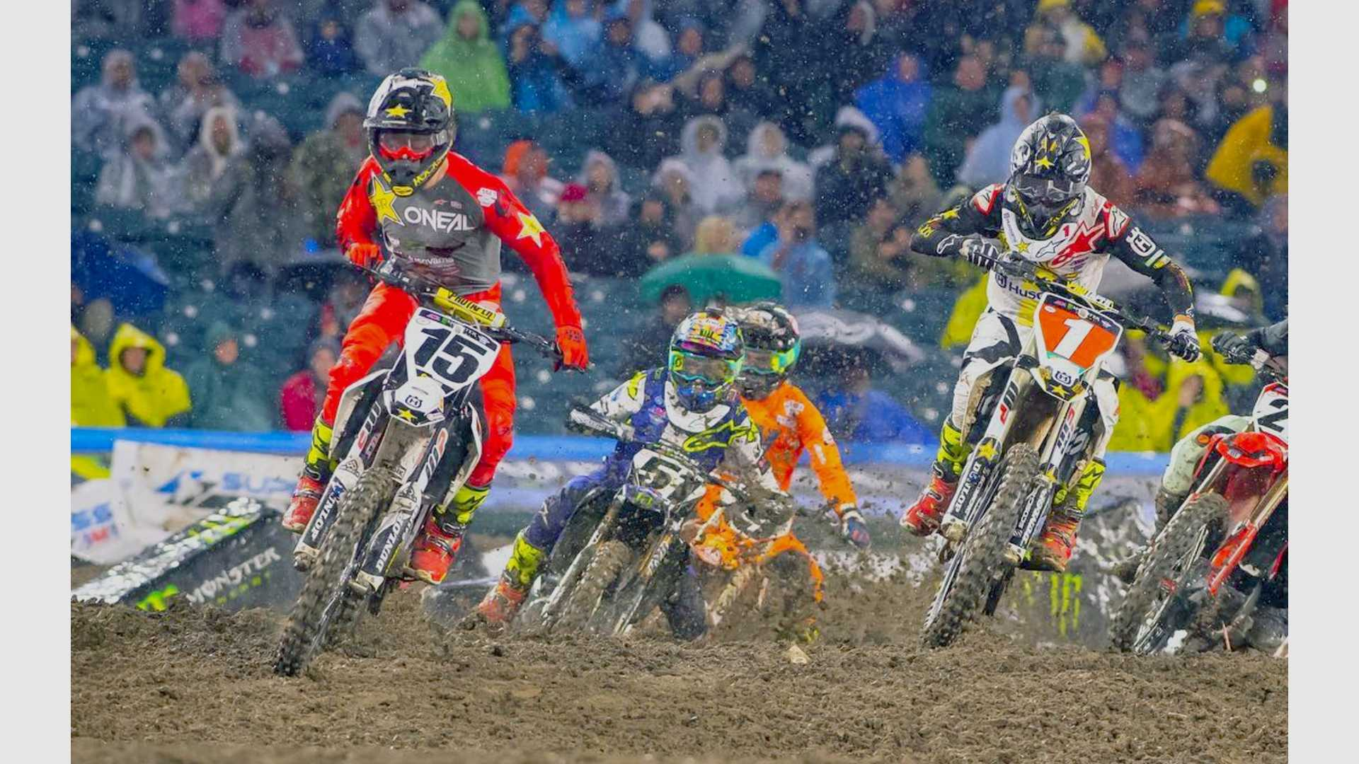 "[""Dean Wilson Takes the holeshot at Anaheim Supercross""]"