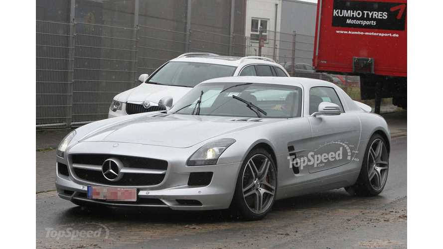 Have $500,000 To Spare?   Mercedes SLS AMG E-Cell Caught Testing, Deliveries Start Early 2013