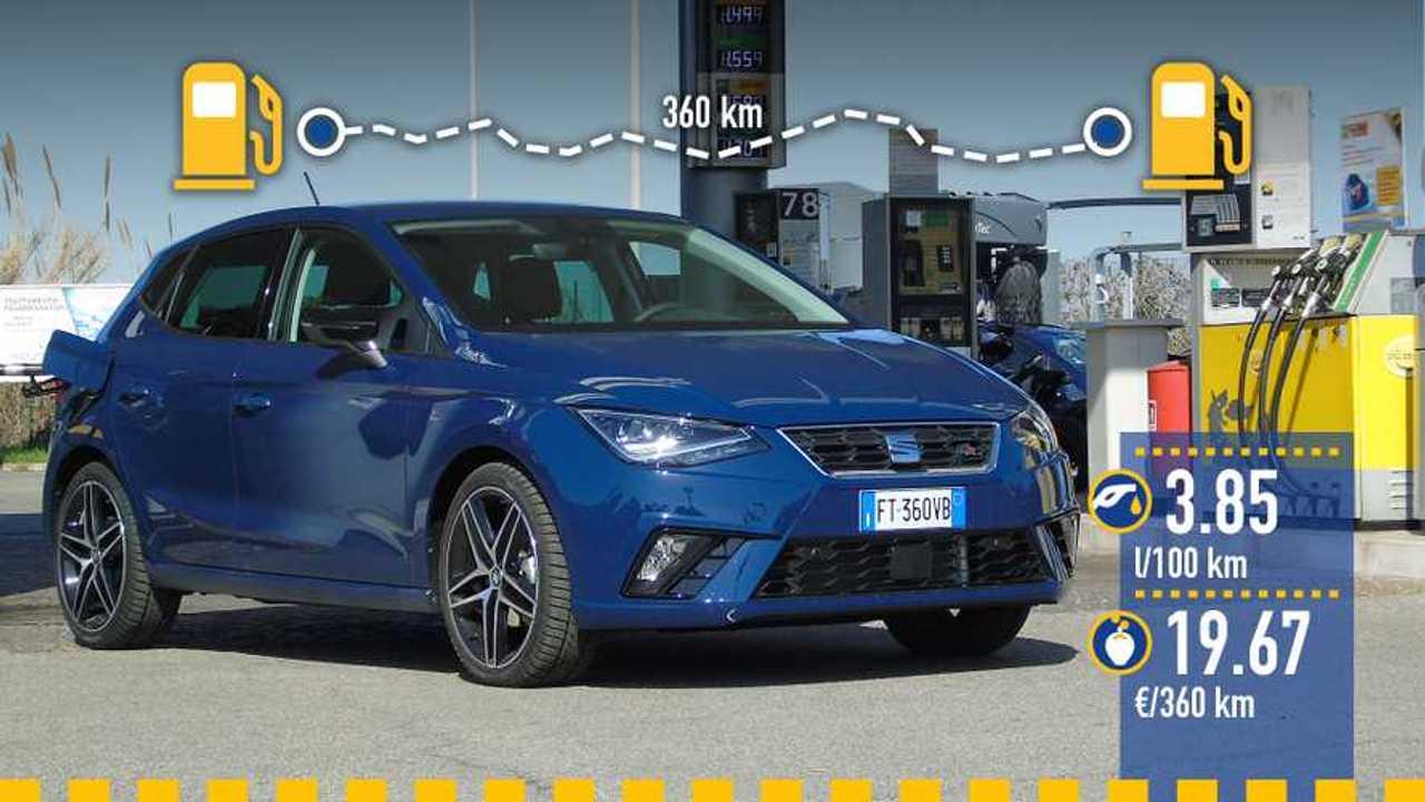 Seat Ibiza 1.6 TDI, la prova consumi