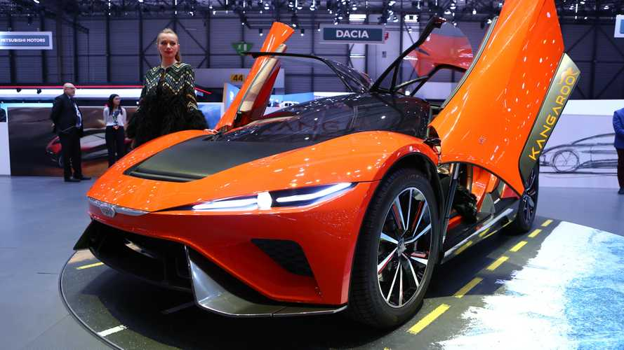 Lifted electric supercar by Giugiaro revealed for Geneva