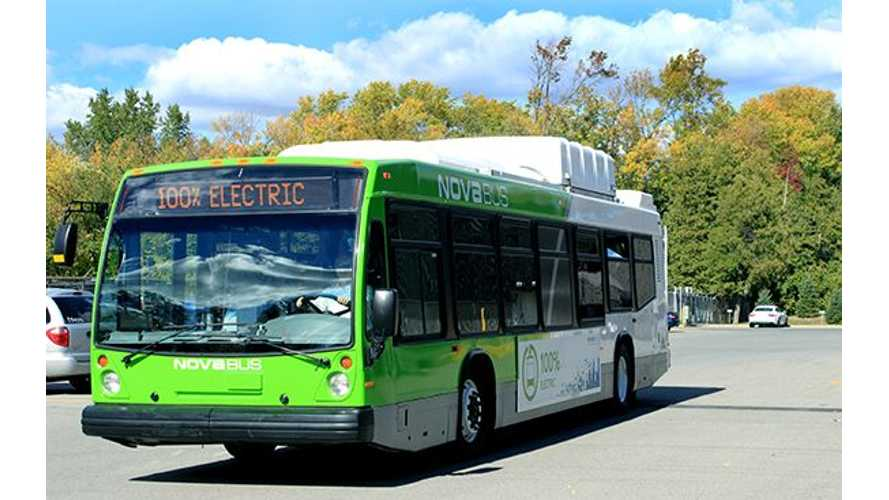 Volvo's Subsidiary Nova Bus to Electrify Public Transit System in Montreal, Canada