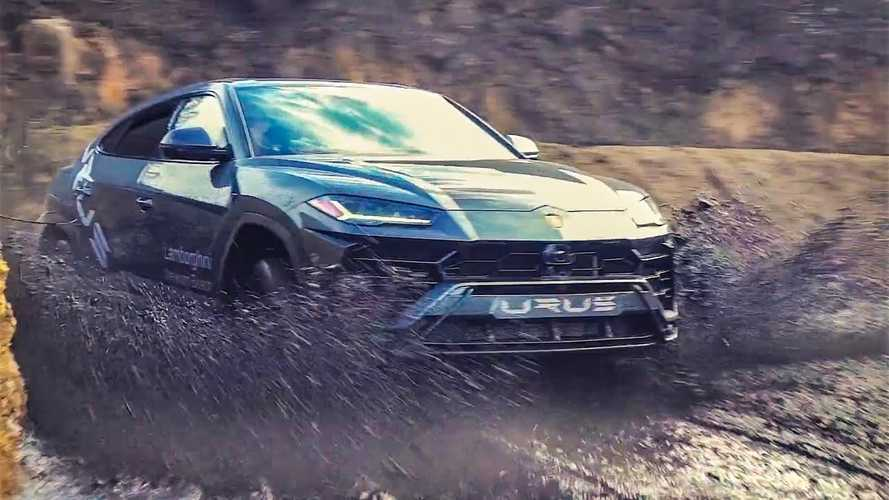 Valentino Balboni Takes The Lamborghini Urus Off Road