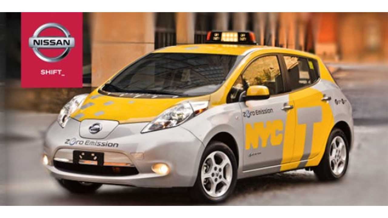 Nissan LEAF Taxi Set for Duty in NYC