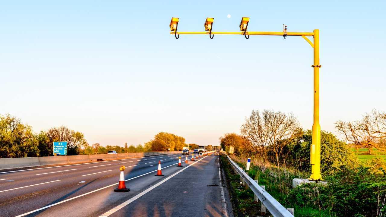 Average speed camera on UK motorway