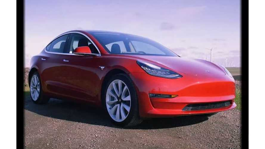 Dual-Motor AWD Tesla Model 3 Spotted Out Driving
