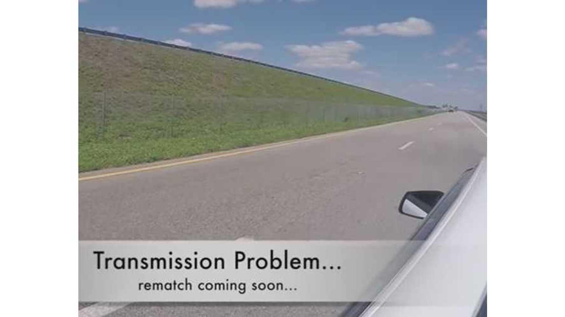 Mitsubishi EVO Breaks Down While Racing Tesla Model S P85D - Video