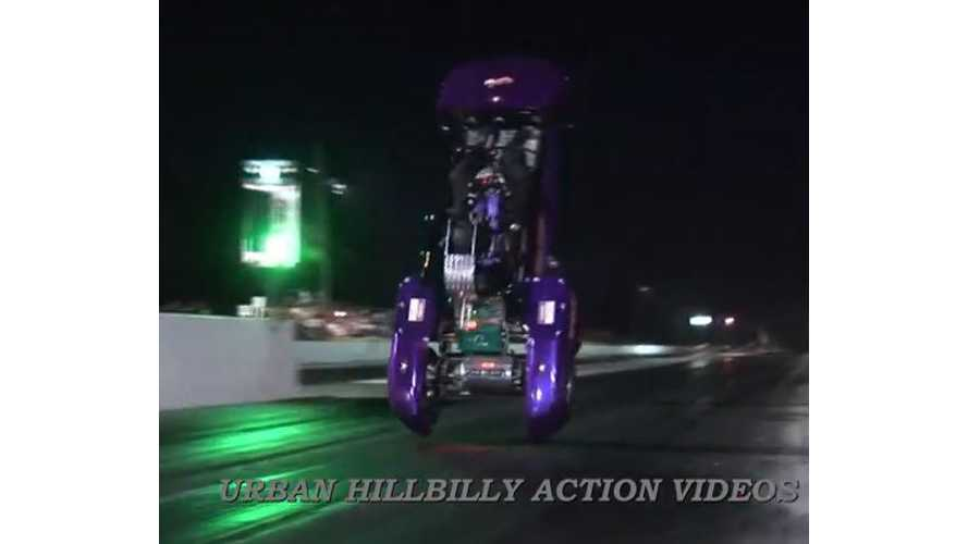 Shock Therapy Electric Golf Cart Does A Back Flip - Video