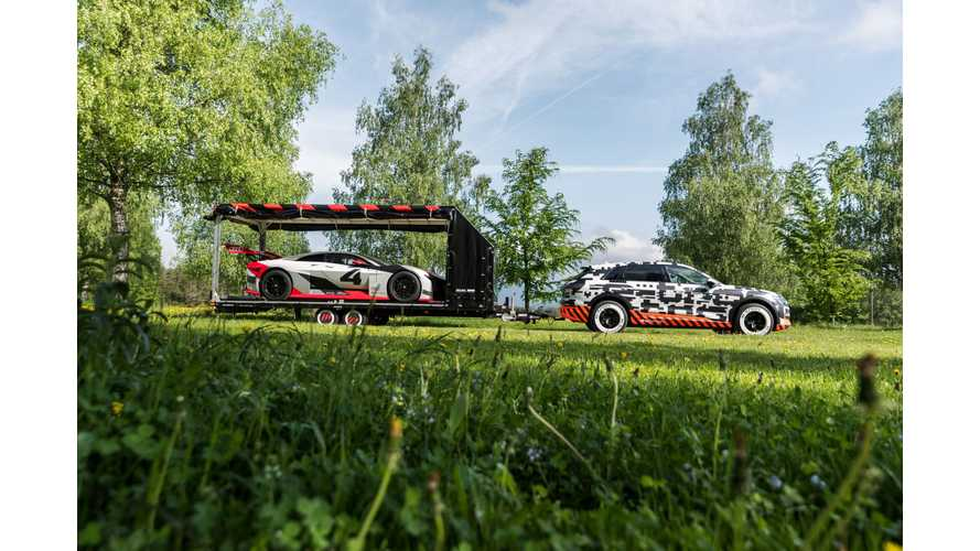 Audi Shows Off Towing Ability Of E-Tron Electric SUV