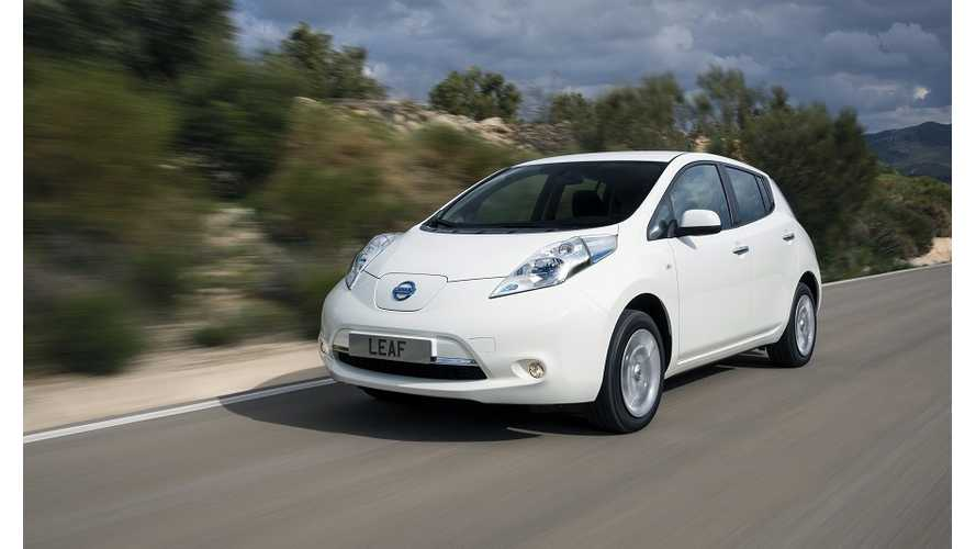 Nissan LEAF Sales UK 2014 - LEAF Dominates BEV Segment With Record-Shattering Results