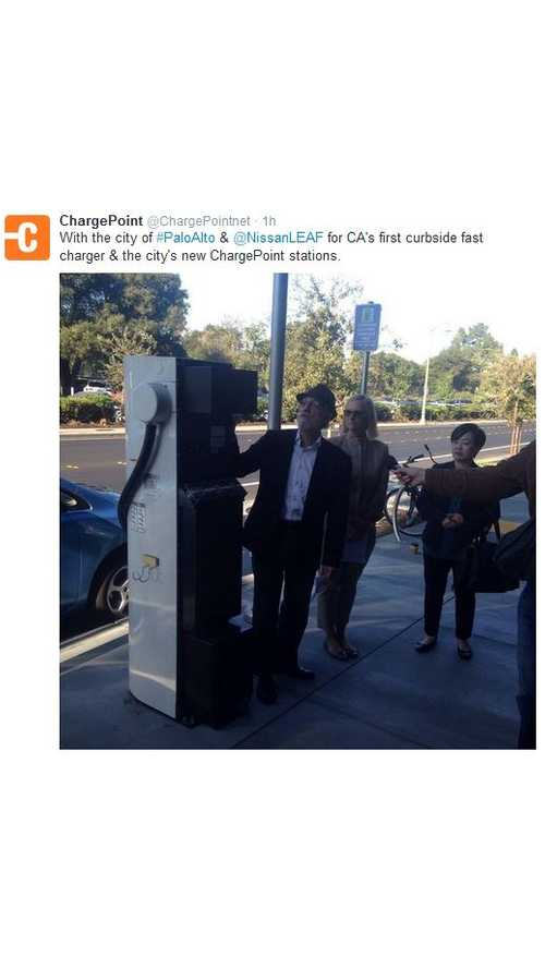 California Gets Its First Curbside DC Fast Charger