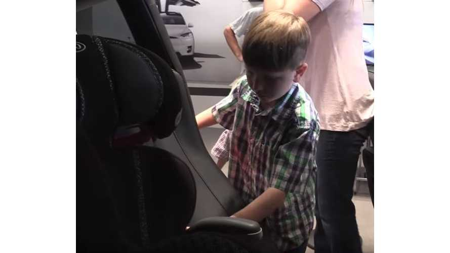 Will It Fit? 3 Car Seats In Rear Of Tesla Model 3 - Video