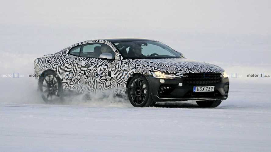 Polestar 1 Plug-In Hybrid Spied Winter Testing On Frozen Lake