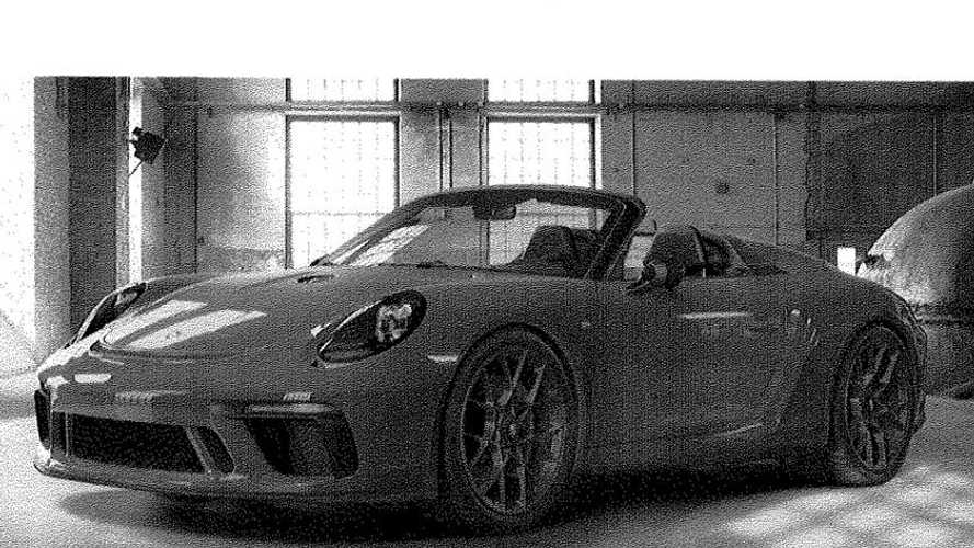 Porsche 911 Speedster leaked in party invitation