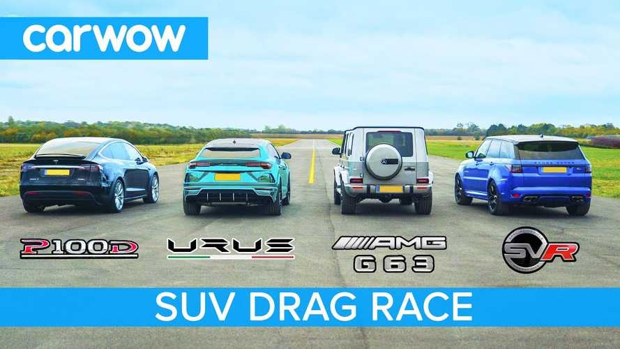 Watch Tesla Model X Crush Lamborghini Urus, AMG G63, Range Rover