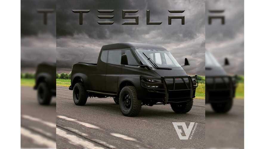 Tesla Pickup Truck Gets Rendered As Rad Off-Roader