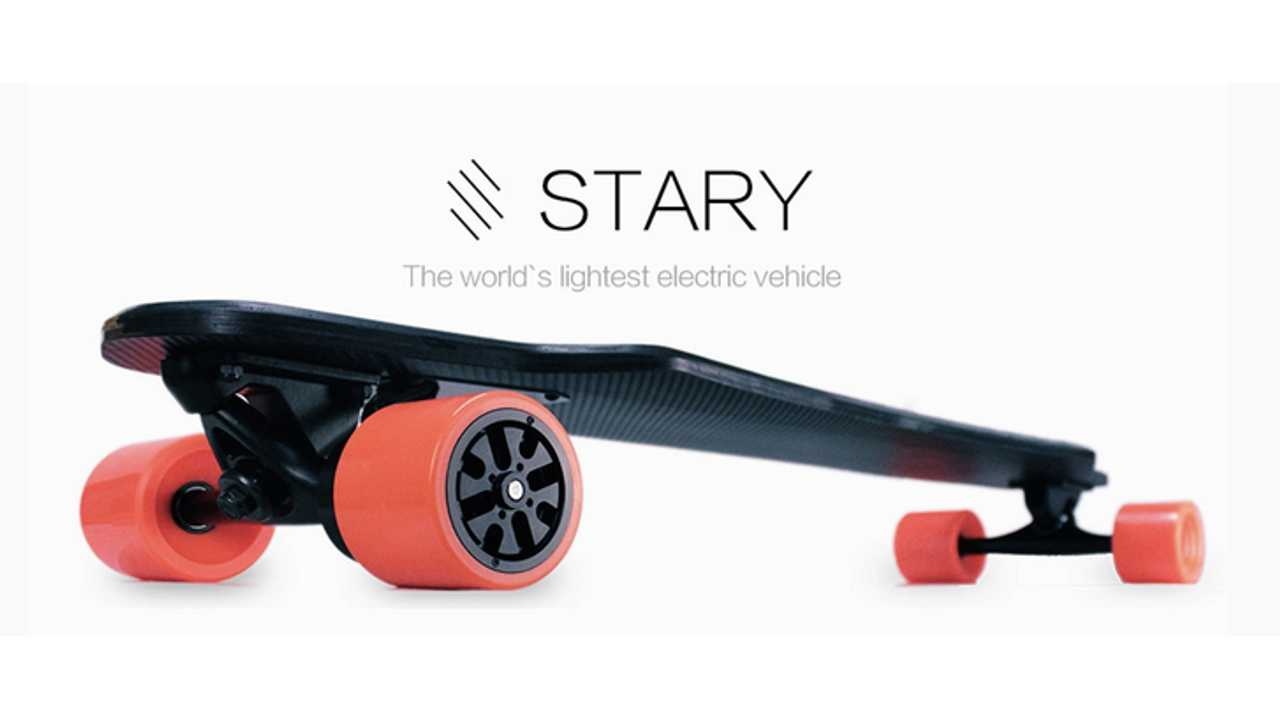 Stary Is World's Lightest Electric Skateboard