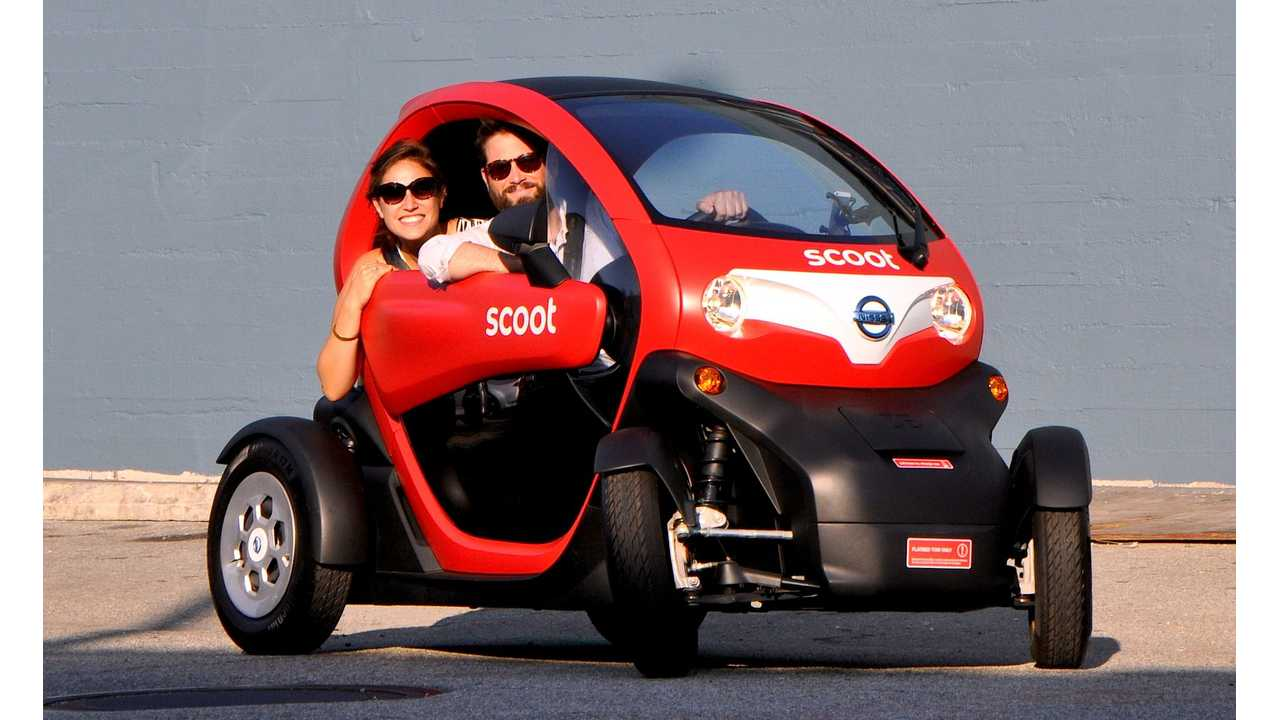 The Renault Twizy Comes To San Francisco In The Form Of The Scoot Quad - Video Review Of What It's Like