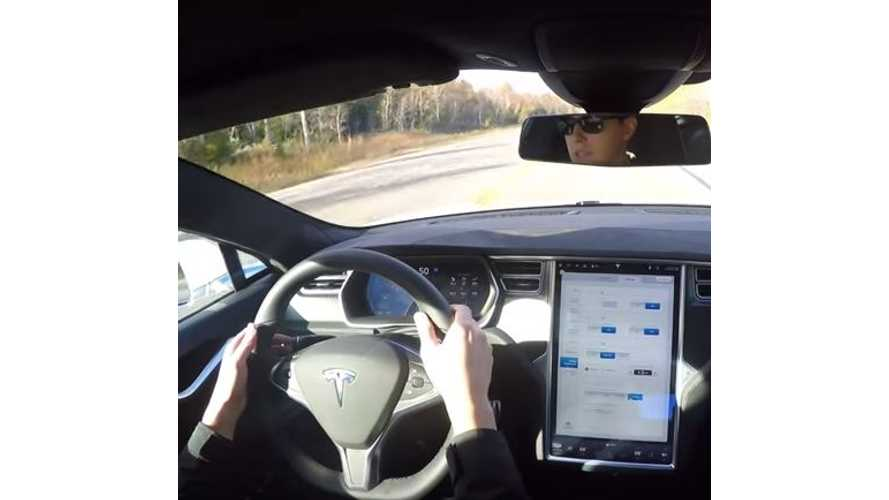 Tesla Model S Autopilot Demo - Video