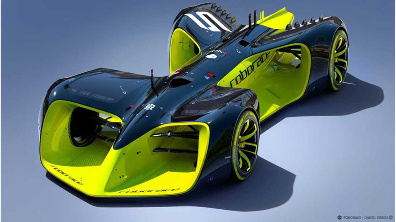 Roborace Autonomous Racing Concept Car Revealed (w/video)