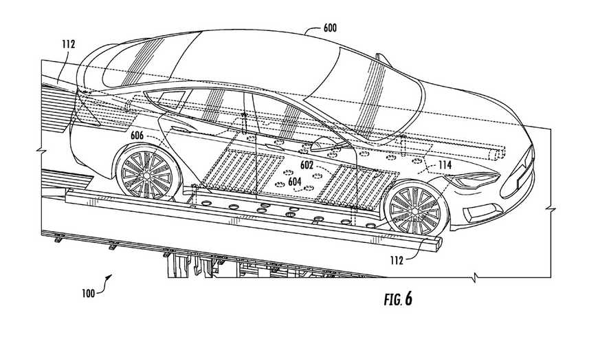 Tesla Battery Swap Patent Application Images Demonstrate System