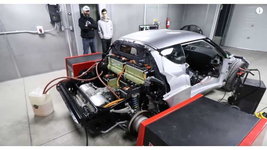 Lotus Evora powered by Tesla electric motor and Chevrolet Volt batteries
