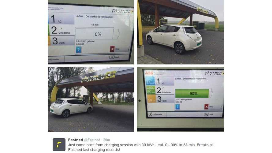 2016 30 kWh Nissan LEAF Sets Fastned Fast Charging Record