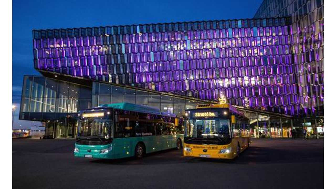 Iceland Receives Its First Electric Buses Courtesy Of Yutong