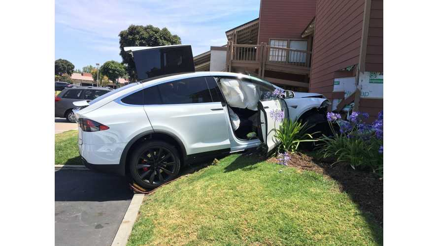 Tesla Model X Owner Says EV Accelerated On Its Own, Crashed (Update)