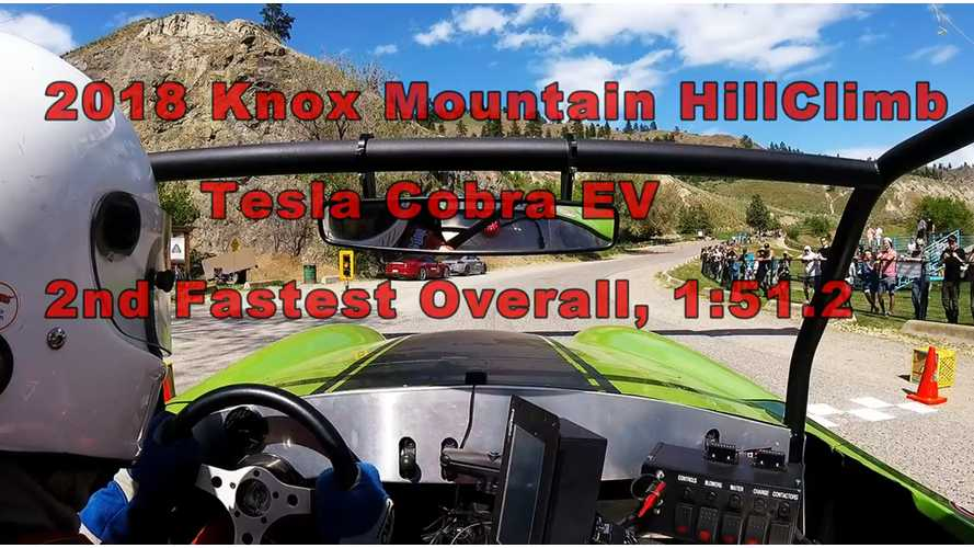 Tesla-Powered Cobra Tackles Knox Mountain Hillclimb