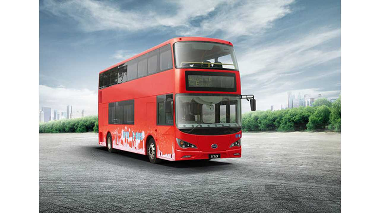 BYD to supply world's first electric double decker to London
