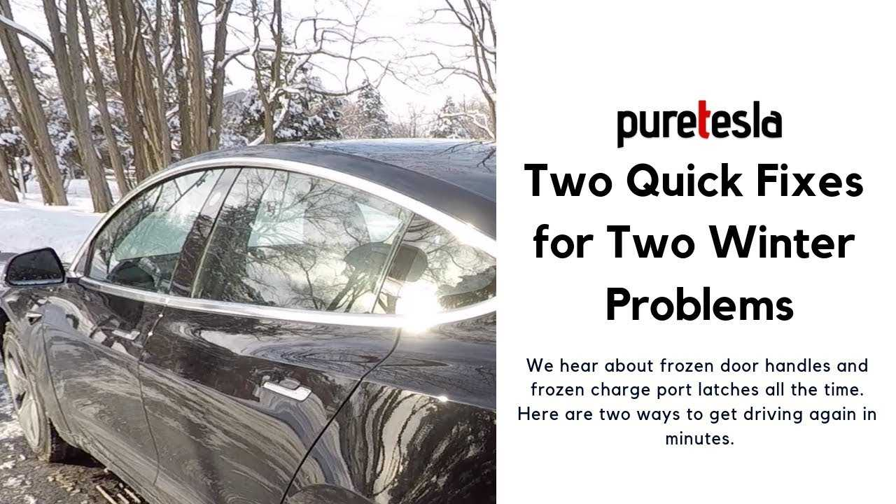 Tesla Model 3 Winter Fixes Video Frozen Door Handle