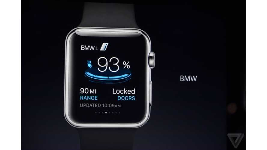 BMW i App For Apple Watch