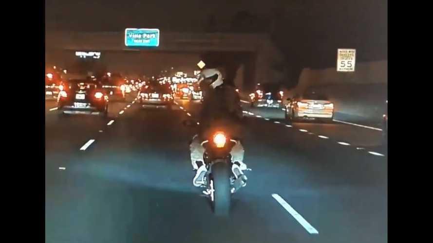 Mad Max Motorcycle Road Rage Captured On TeslaCam