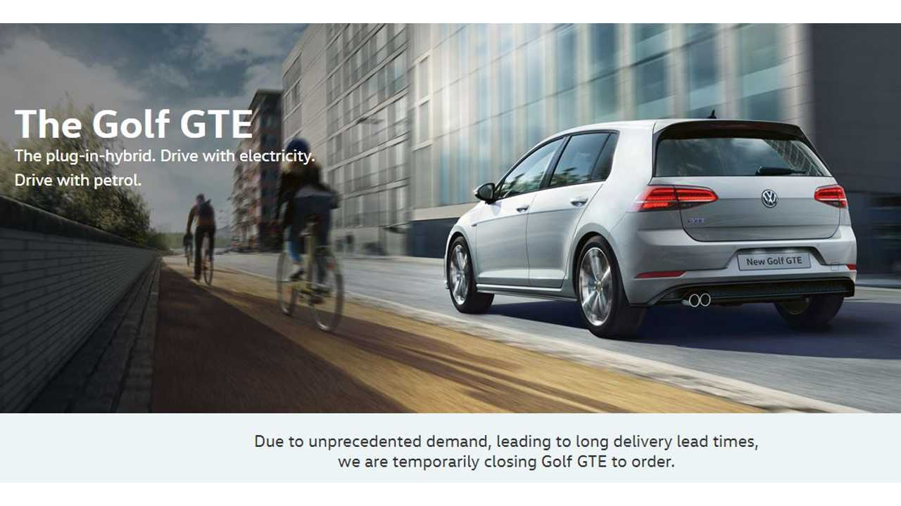 Volkswagen Halts Golf GTE Orders Due To