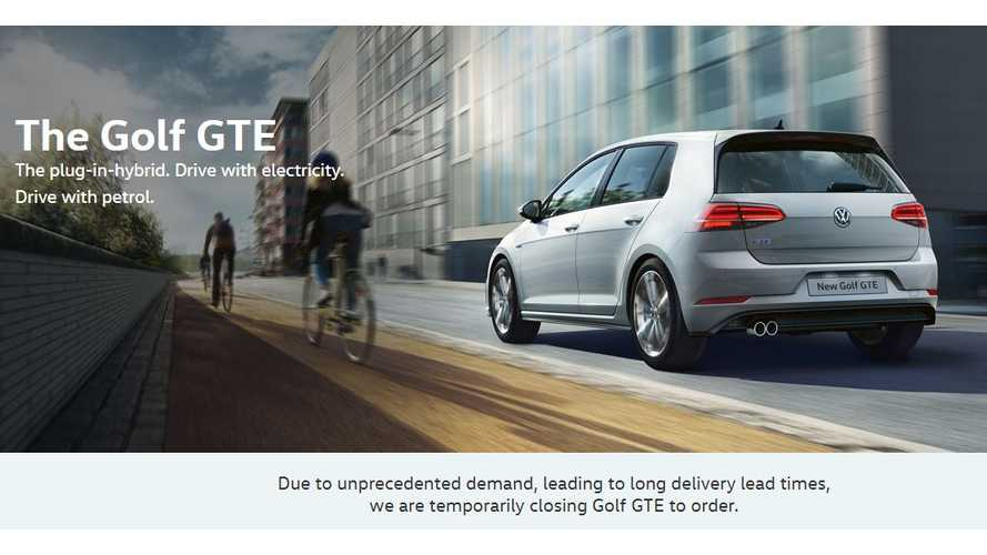 Volkswagen Halts Golf GTE Orders Due To