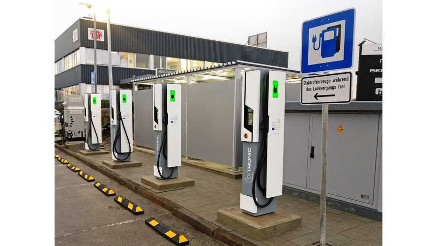 First Public 175 kW Chargers (350 kW From Spring 2018) Now Open In Europe