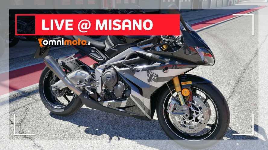 Triumph Daytona Moto2 765 Limited Edition, prime impressioni a Misano