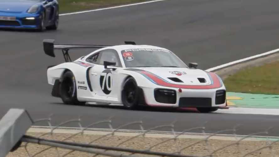 Watch the retro-inspired Porsche 935 tackle the race track
