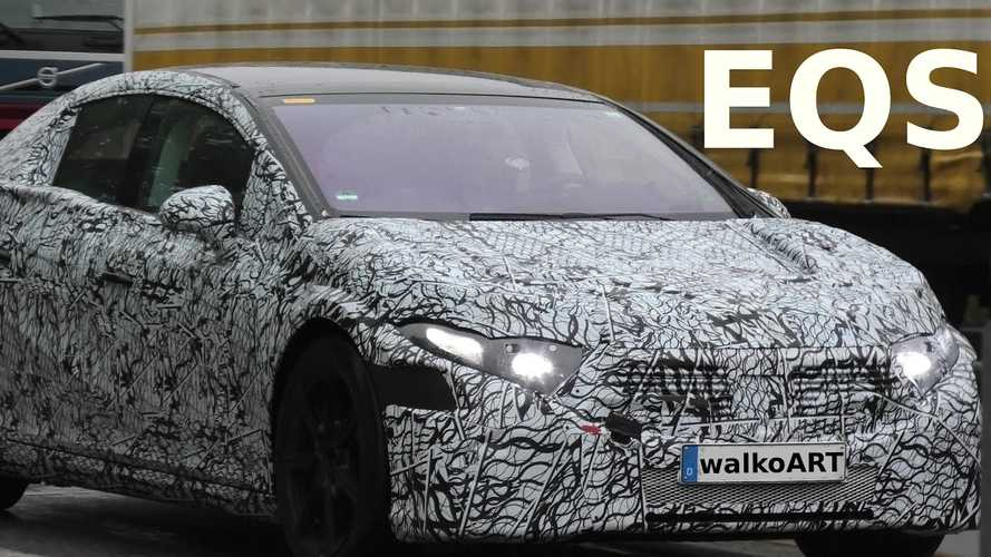 Mercedes-Benz EQS Prototype Spotted Still Under Heavy Camo