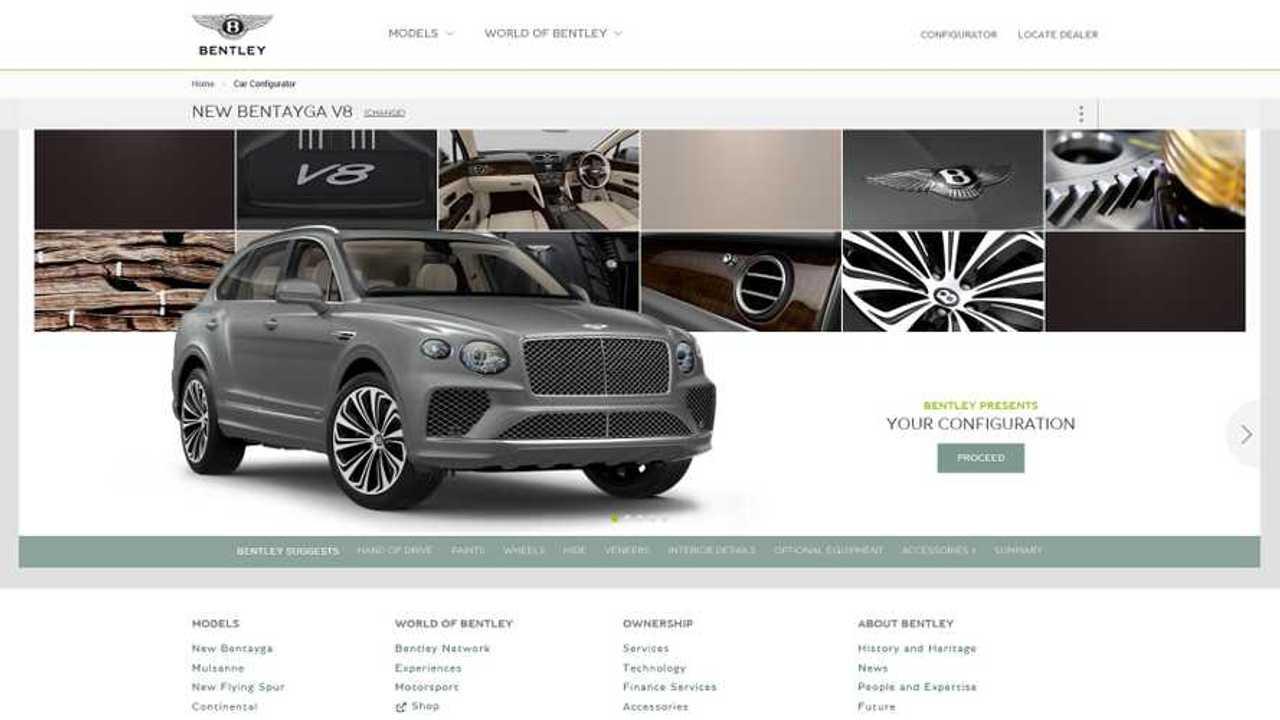 Configuratore Bentley Bentayga