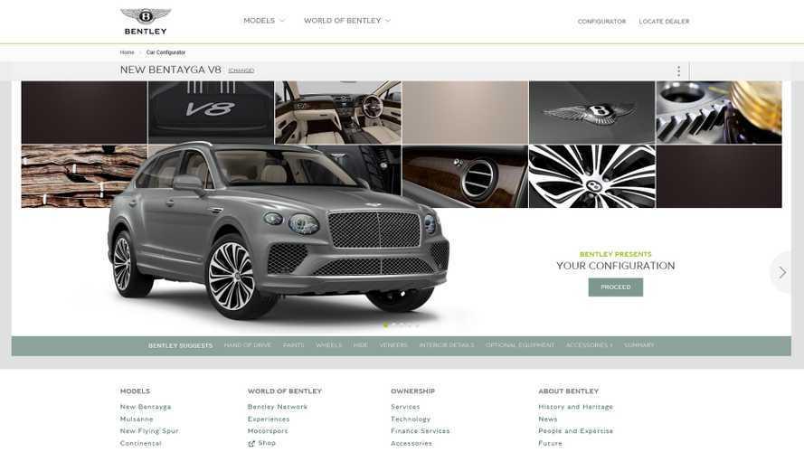 Bentley Bentayga: ci sono 10 milioni di possibilità per configurarla