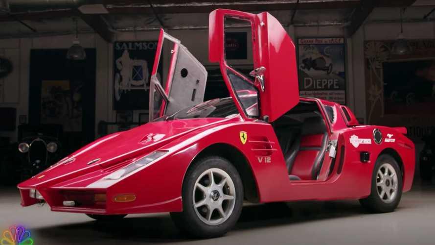 See Jay Leno drive a fake Ferrari Enzo
