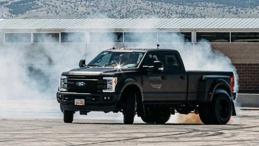 Watch Ken Block Make Drifting A Ford F-450 Dually Pickup Look Easy