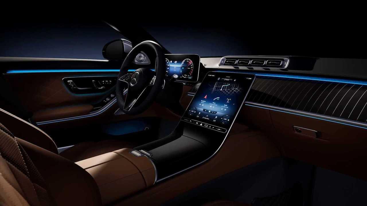 2021 Mercedes S-Class belső tér