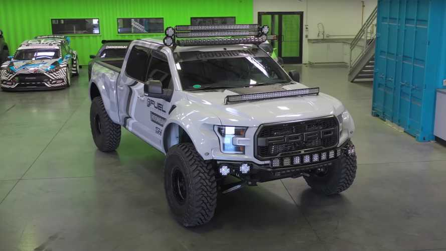 Ken Block bolted 300,000 lumens of lights on his SVC F-150 Raptor