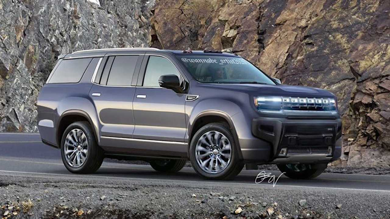 GMC Hummer three-row SUV rendering